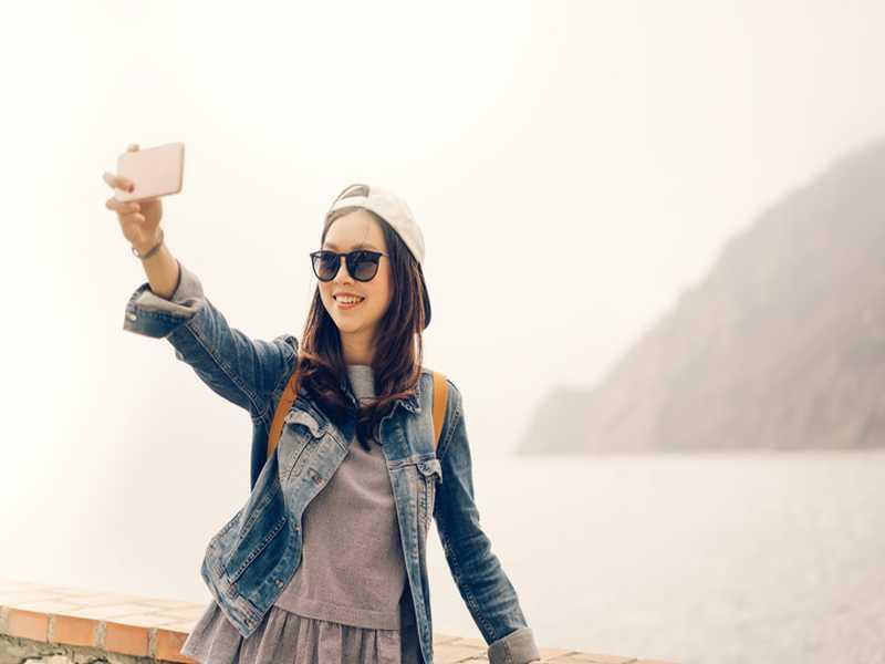 Allein reisende Frau in China