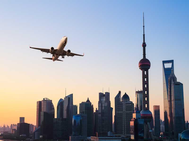 Flug nach Shanghai
